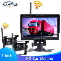 "High Definition AHD Drahtlose Lkw DVR Auto Monitor 7 ""CMOS IR Nachtsicht Reverse Backup Recorder Wifi Kamera Parkplatz system"