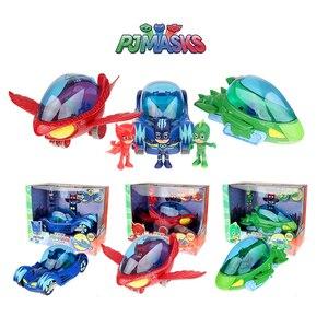 PJ Masks оригинальные Juguete вечерние игрушки в подарок машинка PJ маска Catboy Owlette Gekko Аниме Фигурки игрушки для детей подарки на день рождения 2S21