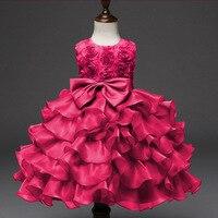 0 10Y Baby Girl Bow Dress Beautiful Princess Kids Dresses for Girls Rose Skirt Alice In Wonderland Party Thanksgiving Tutu Dress