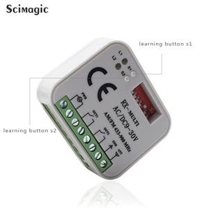 Image 3 - Receptor de relé de interruptor inalámbrico para puerta eléctrica, Control remoto inalámbrico de 2 canales, 433MHz, 868MHz, 315 V, CA/CC, 9 30V, 3 uds.