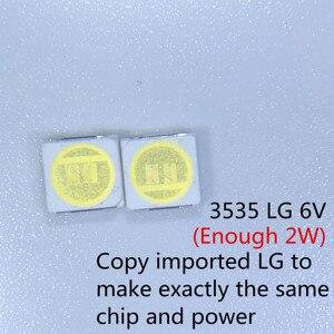 Image 5 - Diode Beads 1000PCS עבור LCD טלוויזיה תיקון LG led טלוויזיה תאורה אחורית רצועת אורות עם אור דיודה מגניב לבן 3535 SMD LED חרוזים 6V