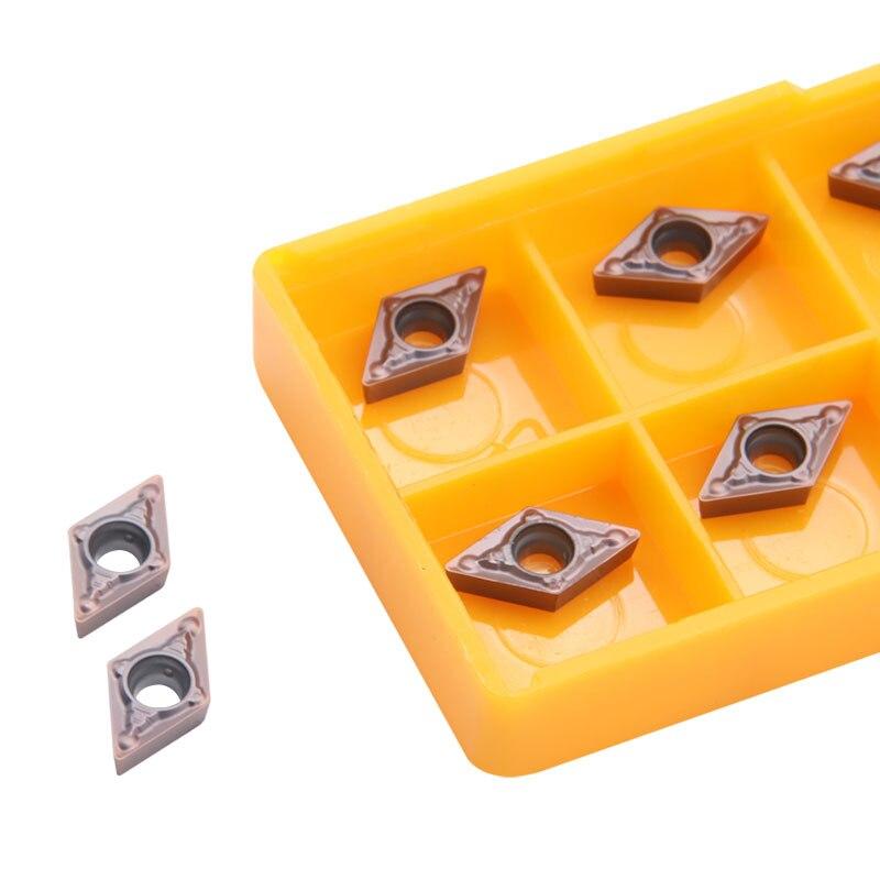 10 Pcs DCMT070204 MV VP15TF High Quality Internal Turning Tools Carbide Inserts Cutting Tool CNC Lathe Tools Cutter