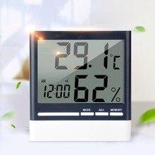 318 цифровой электронный термометр гигрометр Температура Влажность монитор Подставка Кронштейн подвесной будильник для домашнего использования в помещении