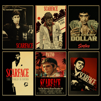 Scarface Movie Posters Good Quality Painting Vintage Poster Kraft Paper For Home Bar Wall Decor/Stickers Painting vintage classic movie black mirror poster good quality painting retro poster kraft paper for home bar wall decor stickers