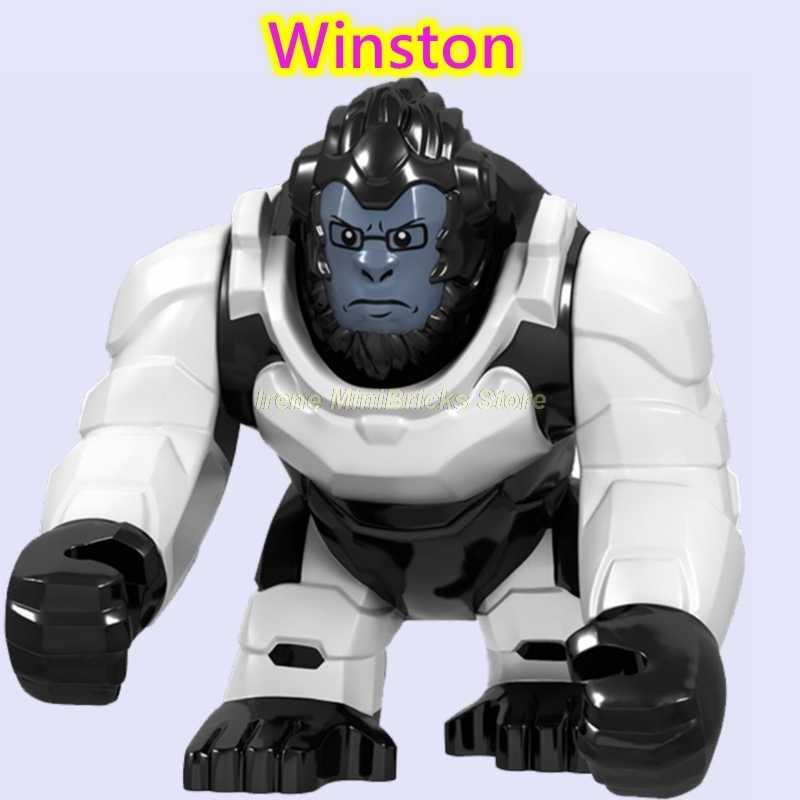 Gioco WOW Overwatching Blocchi di Costruzione Pistola WW2 Arma D. VA Mei Winston Creatore Technic Amici Marvel Figure Giocattoli Per I Bambini