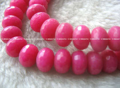 "+++ 819 großhandel stein tief rosa roundel faceted 6*9mm 15 ""lose perlen"