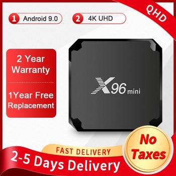 Best X96Mini Smart Tv Box Android 9.0 Amlogic S905W Quad Core 1G8G 2.4G Wireless WIFI 4K Media Player 2G16G X96 mini Set-Top Box