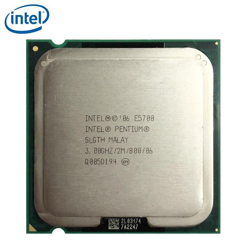 Intel Pentium Dual-Core E5700 CPU Processor 3GHz 2M 800GHz 65W Socket LGA 775 tested 100% working 1