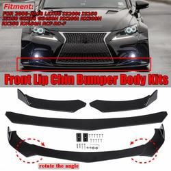 3pcs Universal Car Front Bumper Splitter Spoiler Lip Body Diffuser Protector For Mazda For Subaru WRX For Skoda For Lexus For VW