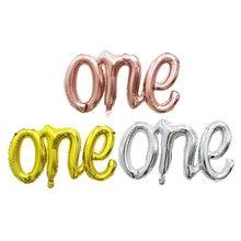 1st誕生日ローズゴールド結ば風船1個1少年少女の手紙箔バルーンベビーシャワーの誕生日パーティーの装飾空気グロボス