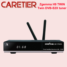 جديد 2 * واي فاي 2 * Ci زائد الرقمية ZGEMMA H9TWIN 4K UHD صندوق التلفزيون لينكس OS Enigma2 H.265/HEVC DVB S2X + S2X المستقبلون
