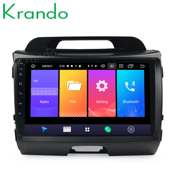 Krando Android 9.0 9 IPS Big Screen Full touch car Multimedia player for Kia Sportage 2010-2014 navigation system No 2din DVD image