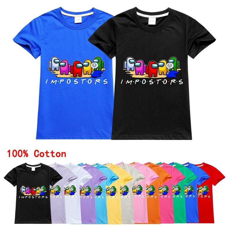 Летняя хлопковая футболка для мальчиков и девочек, милая Забавная детская рубашка в стиле Харадзюку, детские топы с мультяшным графическим ...