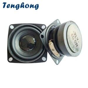 Tenghong 2 pçs Polegada mini alto-falantes de áudio 52mm 4ohm 5w estéreo portátil unidade alto-falante gama completa para o chifre do altifalante do teatro em casa