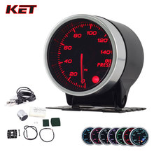 2 Inch 52MM Smoke Lens 0-140PSI Oil Pressure Gauge Press Meter With Stepper Motor