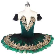 Children's green professional ballet tutu skirt Tutu Dress stage dress lake swan women stage show Costume