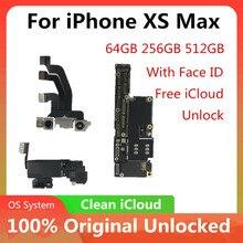 Moederbord Voor Iphone Xs Max Originele Ontgrendeld Voor Iphone Xs Max Logic Board Met/Geen Gezicht Id Logic Board moederbord Met Chips