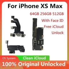 Motherboard für iPhone XS MAX Original Entsperrt für iPhone XS MAX Logic Board Mit/Keine Gesicht ID Logic Board mainboard Mit Chips