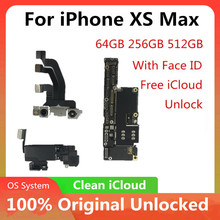 Motherboard for iPhone XS MAX Original Unlocked for iPhone XS MAX Logic Board With / No Face ID Logic Board Mainboard With Chips