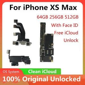 Image 1 - لوحة أم لهاتف iPhone XS MAX الأصلي غير مقفلة لهاتف iPhone XS MAX لوحة إلكترونية مزودة بـ/بدون وجه لوحة رئيسية منطقية مزودة برقائق