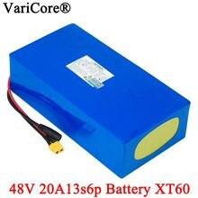 VariCore-batería de litio de 48V, 20Ah, 13s6p, 48V, 20Ah, 2000W, para bicicleta eléctrica con enchufe BMS XT60 integrado de 50A