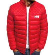 ZOGAA 2021 męskie kurtki i płaszcze zimowa jesień kurtka typu Parka Zipper ciepłe ubrania Casual jednokolorowa wiatrówka parki mężczyźni płaszcz tanie tanio COTTON Poliester CN (pochodzenie) Winter Na co dzień REGULAR STANDARD Man-7514 Suknem NONE Kieszenie Zamki Stałe 0 45kg