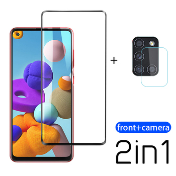 2-in-1 Tempered Glass For Samsung Galaxy A21S A51 A71 Camera Lens Screen Protector For Samsung Galax A21 A A30 Protective Film