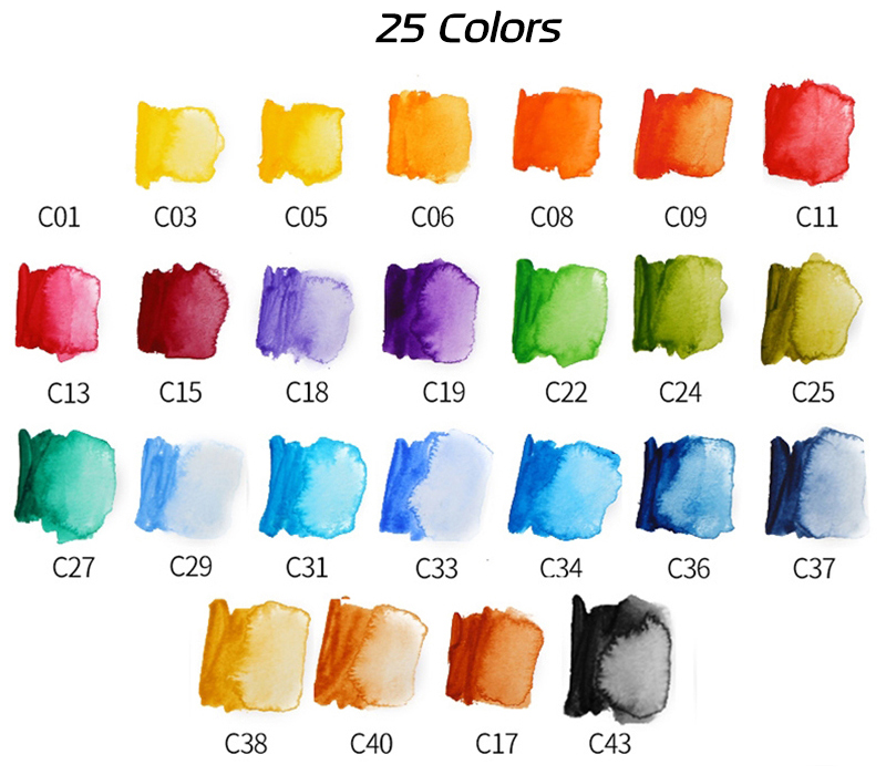 Superior 18253342colors Solid Watercolor Paint Set With Water Brush Pen Portable Water color Pigment For Drawing Art Paint (7)