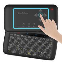 H20 uniwersalny bezprzewodowy podświetlenie klawiatury Panel dotykowy mysz pilot zdalnego sterowania z systemem Android inteligentny tv  pudełko w Piloty zdalnego sterowania od Elektronika użytkowa na