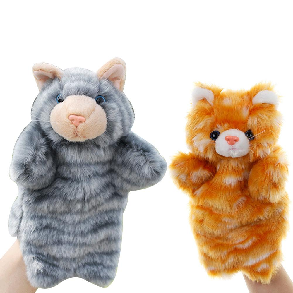 Lovely Cats Animal Doll Plush Soft Hand Puppet Role Play Interactive Kids Toy New