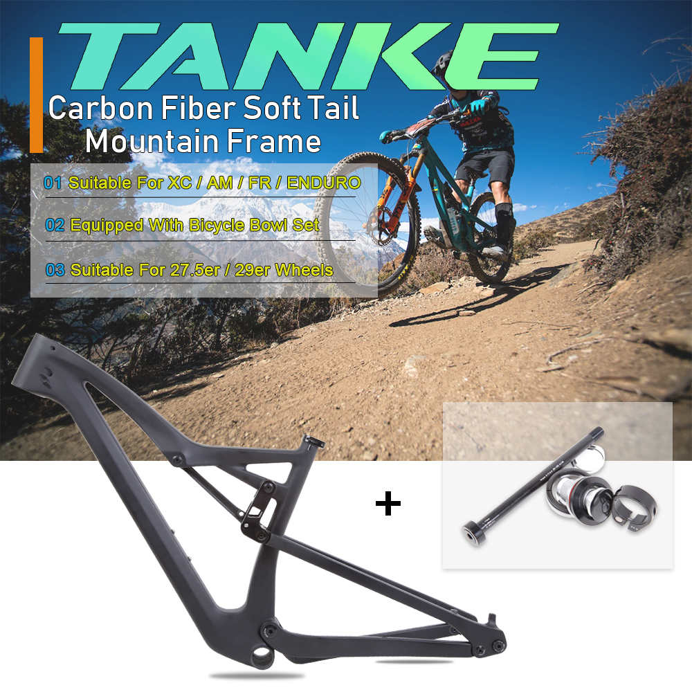 29/27.5inch AM/XC/FR/Enduro Cross Travel Mountain Bicycle Frame For BB92 148mm*12mm MTB Carbon Boost Twinloc Frameset Bike Matte