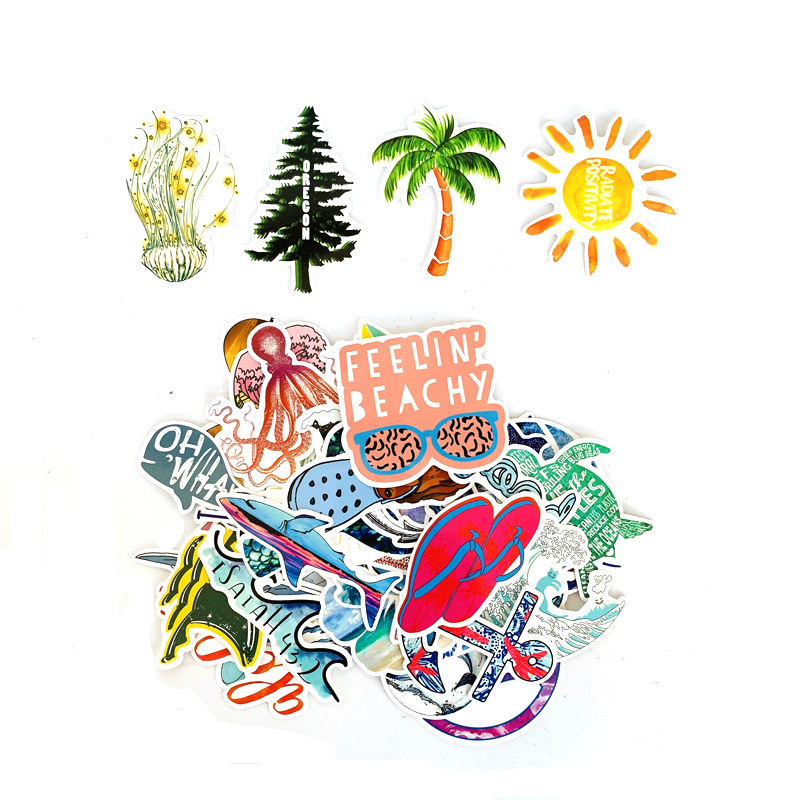 Tropical Surf Sticker Pack (50 count) 2