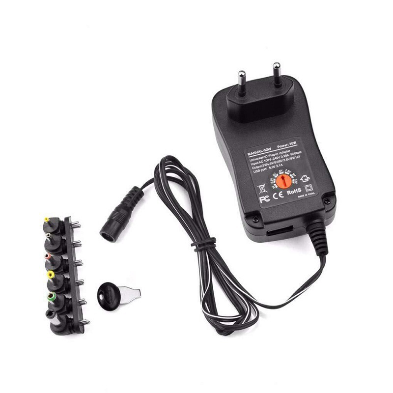 Universal <font><b>220V</b></font> Power <font><b>Adapter</b></font> 12V 3V 4.5V 5V <font><b>6V</b></font> 7.5V 9V 2A 2.5A Adjustable <font><b>Adapter</b></font> AC Charger Supply for led light strip lamp 30W image