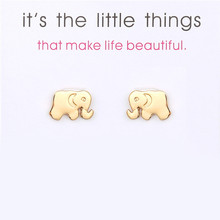 Fashion Animal Earrings Jewelry Gold Cute Elephant Stud For Women Girl Wedding Party Gifts