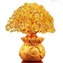Ornamento para árbol de la suerte dorado, monedero delicado para boda, árbol de la Fortuna, sala de estar, hermoso árbol de la suerte, estilo chino