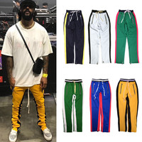 H.A. Sueno 2019 BIG SALE Men Track Pants Hip Hop Men's Pants With Zippers Popular Panelled Soft Trousers High Street Wear /7