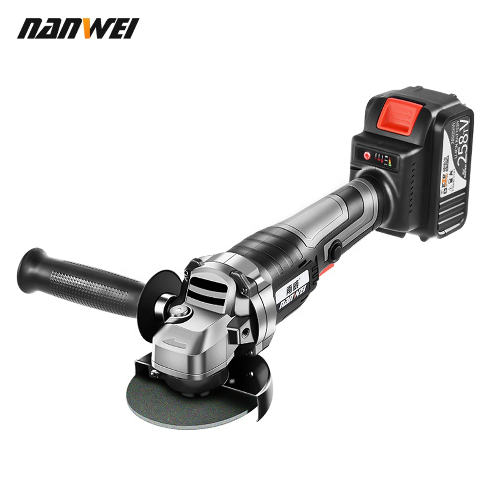 Cordless Angle Grinder Brushless Polisher Grinding Metal Cutter 10*1500mAh Lithium Ion Battery Rechargeable Power ToolGrinder