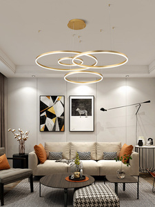 Image 5 - 40/60/80CM Rings Fashional Modern LED chandeliers for Living Dining room DIY Hanging Lighting circle rings for indoor lighting