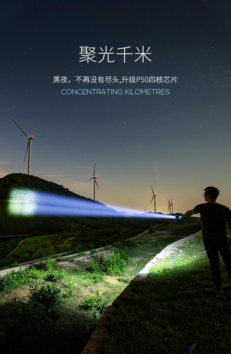poderoso led lanterna el feneri uzun menzil