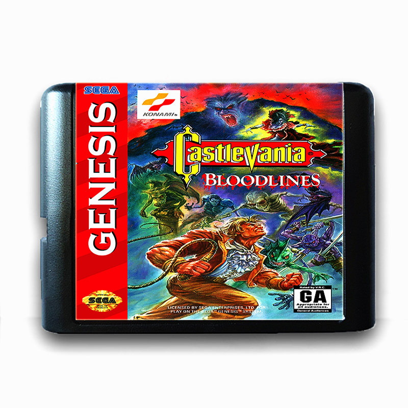 Castlevania Bloodlines for 16 bit Sega MD Game Card for Mega Drive for Genesis US PAL Version Video Game Console image