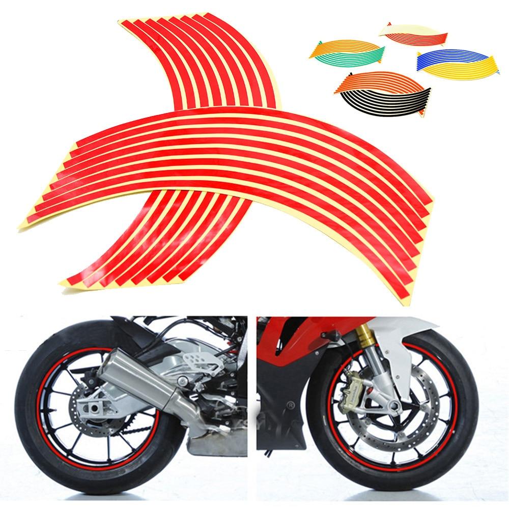 16 полосок 17 дюймов/18 дюймов колесные мотоциклетные колесные обода наклейки для Kawasaki Yamaha Suzuki sv650 sv650s 1999-2009 sv 650 650 s