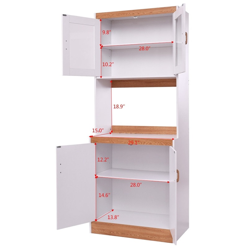 tall kitchen cabinet microwave cart