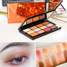 12 Colors Afterglow Eyeshadow Palette Pigment Cosmetics Long-lasting Waterproof Shadows For Makeup
