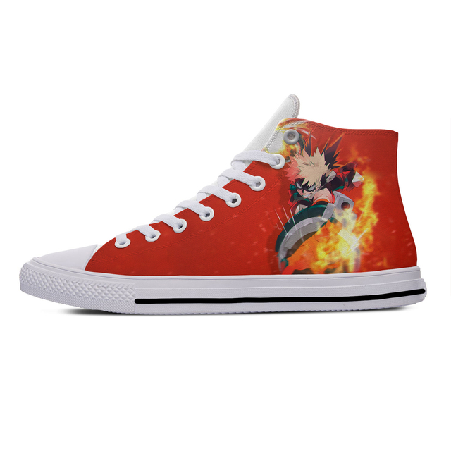 MY HERO ACADEMIA THEMED HIGH TOP SHOES (5 VARIAN)