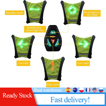 LED Wireless cycling vest MTB bike bag Safety LED Turn Signal Light Vest Bicycle Reflective Warning Vests with remote controller lucky bag with zanflare b3 3 led bike light
