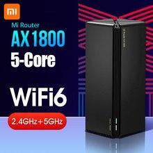 Xiaomi-routeur Mi AX1800 wi-fi 6 5 cœurs 2.4/5 GHz, Gigabit, 2 antennes, télécommande, répéteur wi-fi IPv6, 220V