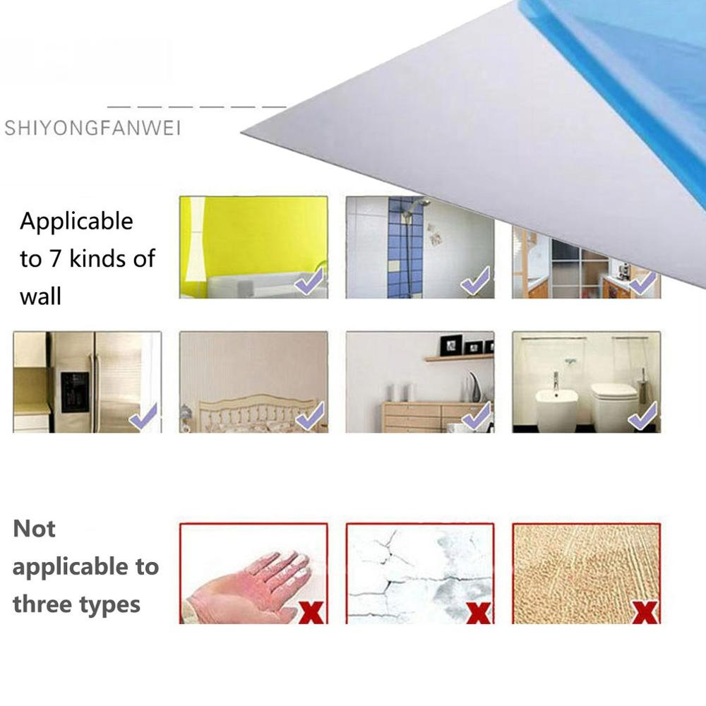 0.2MM Thick Removable Waterproof Self-adhesive Mirror Stickers Home Bathroom Kitchen Wall Stickers Kitchen Decoration