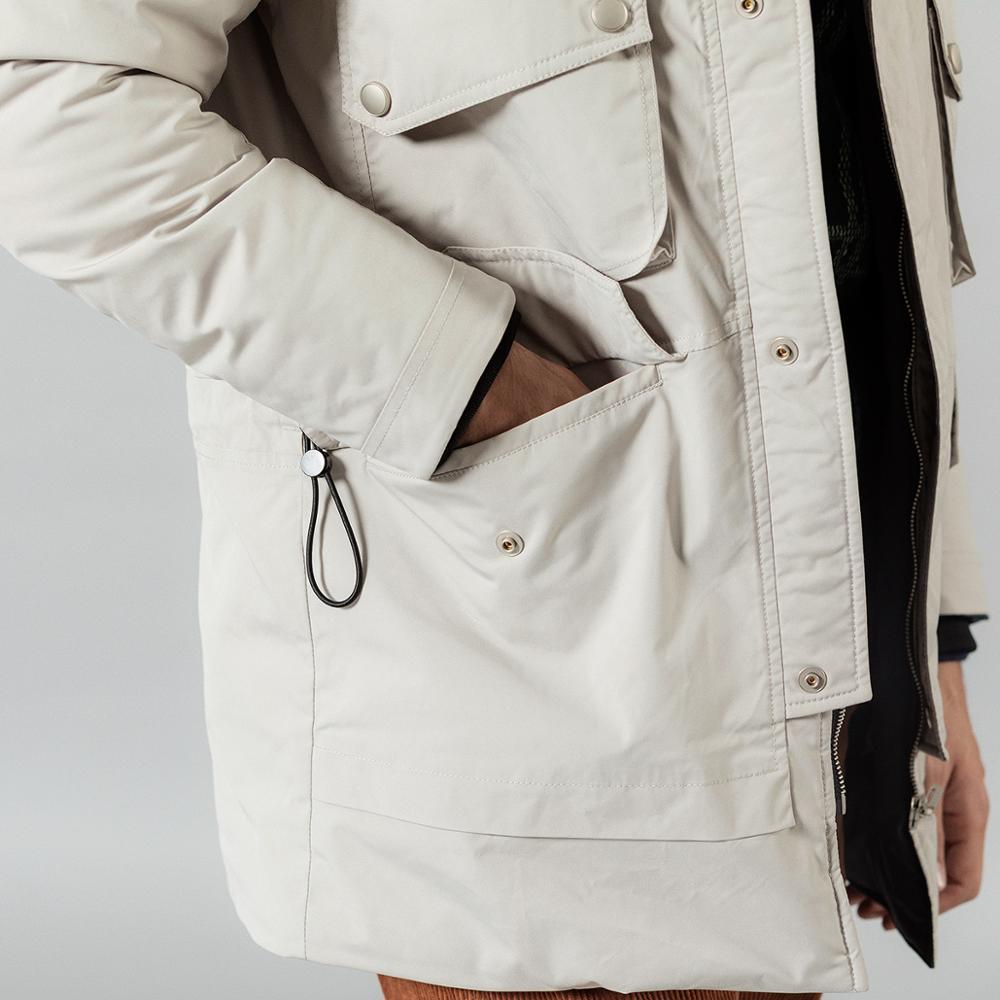 SIMWOOD 2019 hiver nouveau 90% blanc canard vers le bas manteaux hommes multi poches à capuche chaud vestes de haute qualité grande taille manteaux SI980618 - 5
