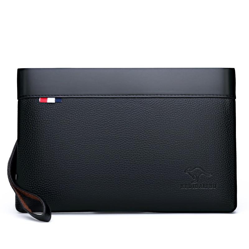 Сумка-клатч мужская из мягкой ПУ кожи, модный саквояж в деловом стиле, элегантный повседневный стильный чемоданчик на талию