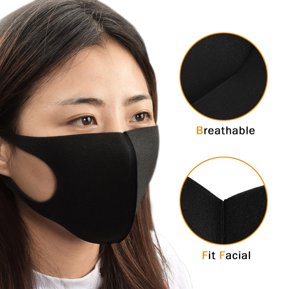 5pcs Reusable Anti Dust Sponge Masks Unisex Breathable Tattoo Mouth Cover Personal Products For Pregnant Women